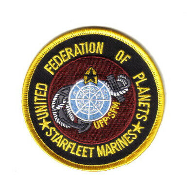 Star Trek United Federation of Planets Starfleet Marines Logo Embroidered Patch