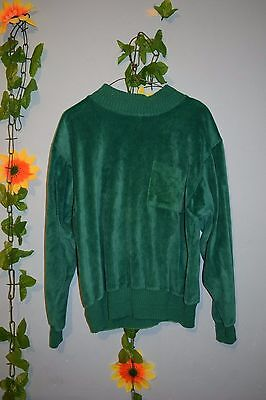 vintage 70s 80s liz claiborne green velour  top sport luxe hipster