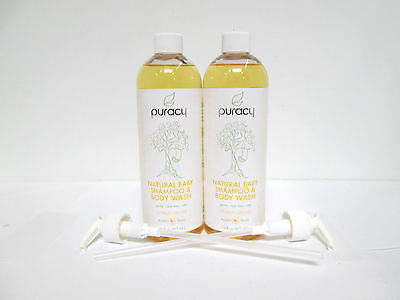 Puracy Natural Baby Shampoo & Body Wash Citrus Grove - 16 oz (2 pack) [MB-A-P]