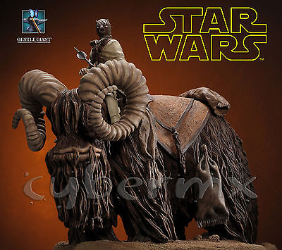 Gentle Giant Star Wars Tusken Raider On Bantha Statue ~Brand New~