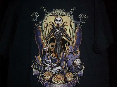 "TeeFury Nightmare XLARGE ""King of the Pumpkin Patch"" Before Christmas NAVY"