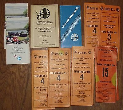 Lot Santa Fe Railway Timetables Brochures Officers/Agents  Book Railroad Gifts