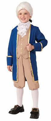 George Washington Child Costume Uniform Boys Historical Pioneer Colonial Jabot