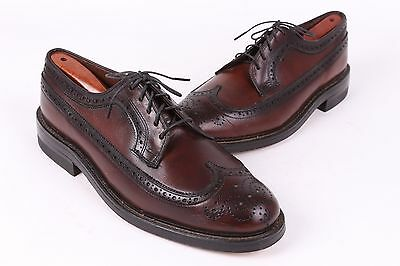 Vtg Nordstrom Leather Oxford Wingtip Shoes Deadstock Size 8.5 E