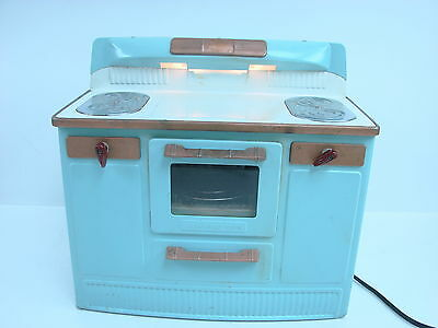 "Vtg 1950's Empire ""Heat-Trol"" Childrens Kitchen Toy Electric Oven & Stove Blue"