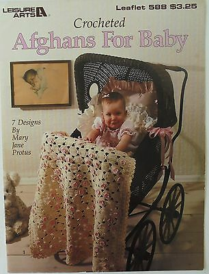 Leisure Arts Afghans For Baby 7 Designs Mary Jane Protus Crochet Pattern