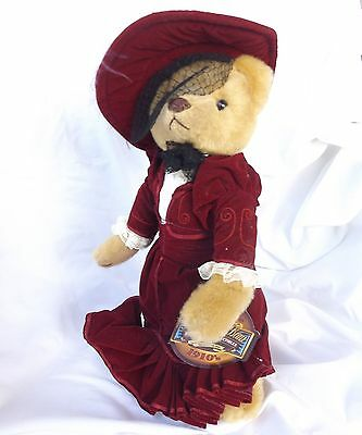 Brass Button Bear Gabrielle 1910's Plush Stuffed Toy Replica Period Costume