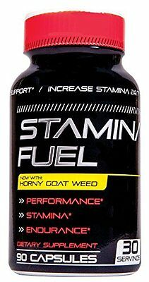 Stamina Fuel Male Supplement w/ Horny Goat Weed for Endurance, 90 Caps by Nucell