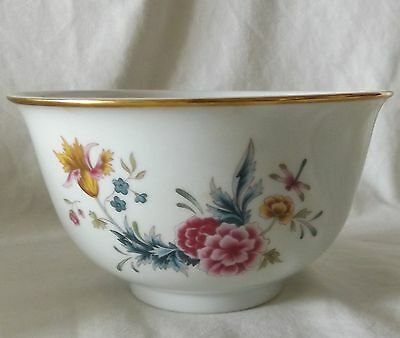 Avon American Heirloom Independence Day Porcelain Bowl 1981 Dragonfly Flowers