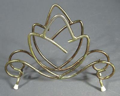 Retro/vintage 60s-70s gold anodised napkin/letter rack/holder- kitsch