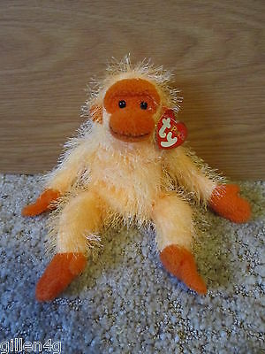Ty Inc. 2003 Punkies Monkey Beanie Plush Trapeze *lnwt