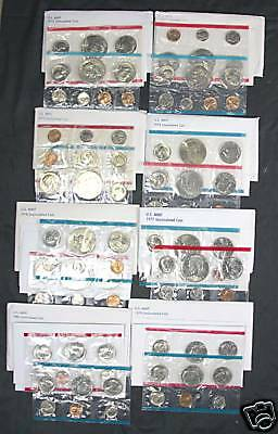 1968-1981 Complete set of U.S. Mint Sets. 14 sets
