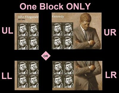 US John Fitzgerald Kennedy JFK forever plate block MNH 2017 after Feb 27
