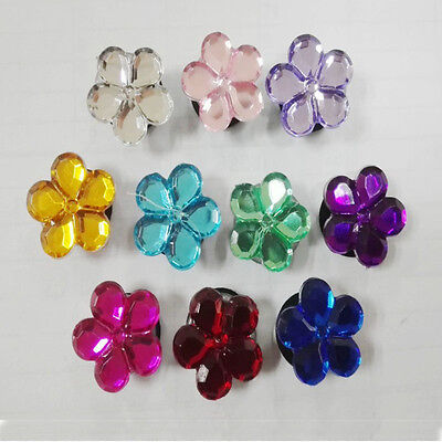 10pcs/lot Flower Crystal PVC Shoe Charms Accessories for Croc&Jibbitz Party Gift