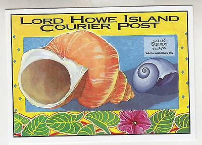 LORD HOWE ISLAND, Booklet 1999 Marine Environment, 4 x $ 1.80