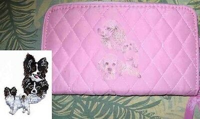Q wallet PAPILLON Belvah Quilted Fabric Zip Around Pink Wallet