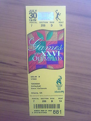Ticket Olympic Games ATLANTA 30.07.1996 VOLLEYBALL (7:30 PM)