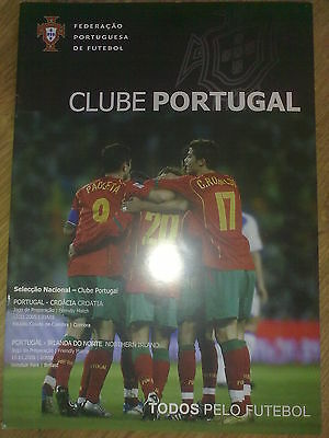 Programme Portugal - Croatia + Northern Ireland 2005 friendly