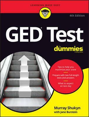 Ged Test for Dummies, 4th Edition by Murray Shukyn (English) Paperback Book Free