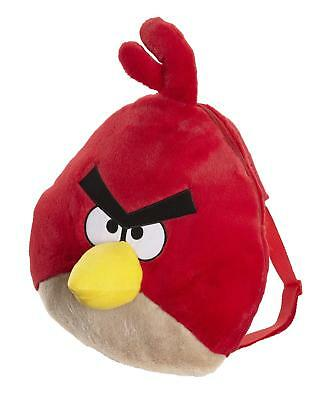 Angry Birds Novelty Plush Backpack - Red Bird - Soft Bag -   91379 - New