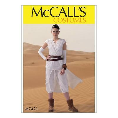 MCCALL\'S SEWING PATTERN COSTUMES MISSES\' TABARD STAR WARS REY SML ...