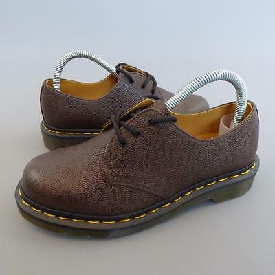 Unisex DR DOC MARTENS DMs AW501 Brown Leather Industrial Safety Shoes UK 5 E1221