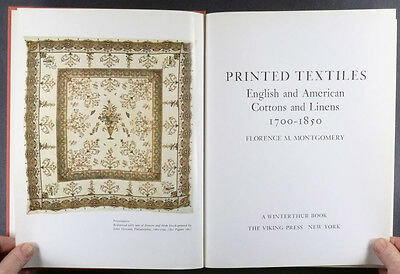 American & English Antique Printed Textiles Cotton Linens -A  Winterthur Study