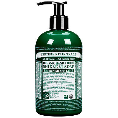 Dr Bronner's Organic Shikakai Lemongrass Hand Soap Choice of Sizes One Supplied