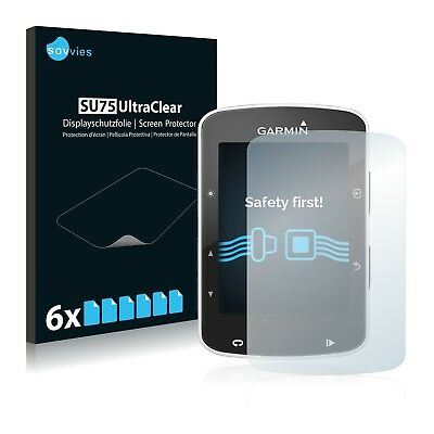 6x Savvies Screen Protector for Garmin Edge 820 Ultra Clear