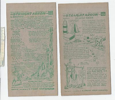 #26 Lot of 6 Diff 1952 NABISCO INJUN-UITY Cards Book #4 Cereal Straight Arrow
