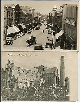 High Street (RP), St Canices Cathedral, Kilkenny, Ireland, on two postcards