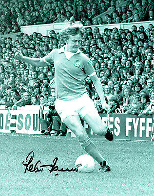 Peter BARNES Signed Autograph 10x8 Photo AFTAL COA Manchester City RARE