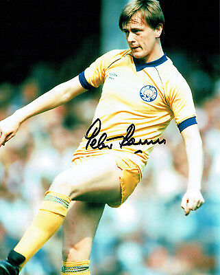 Peter BARNES Signed Autograph 10x8 Photo AFTAL COA Leeds United RARE