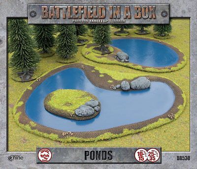 Gale Force Nine Battlefield In A Box Pre-Painted Scenery Ponds (BB530)