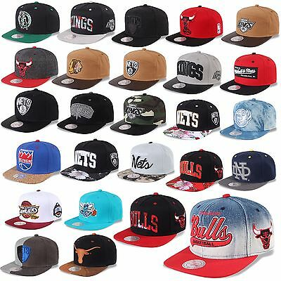 Mitchell & Ness And Snapback Cap Chicago Bulls Nets Kings  Magic Heat Uvm -D