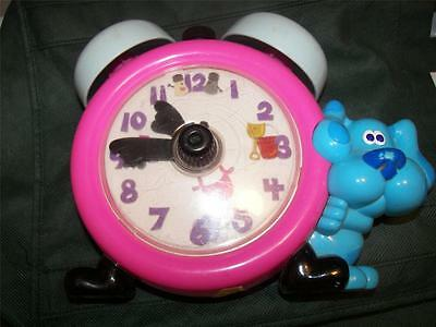 Tyco Blues Clues Tickety Tickity Tock Clock Talking -Learn to Tell Time 1998 htf