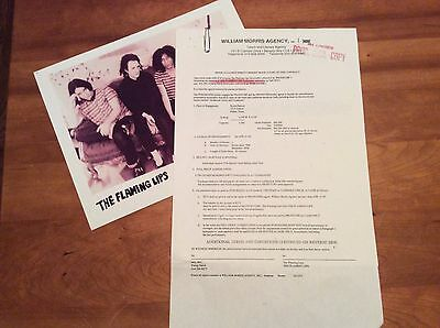 THE FLAMING LIPS: Vintage Concert Contract and Rider, Dallas, 1994.