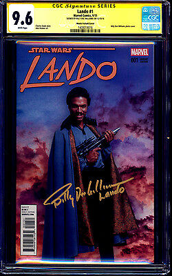 Lando #1 CGC SS 9.6 MOVIE PHOTO VARIANT signed Billy Dee Williams Star Wars NM+
