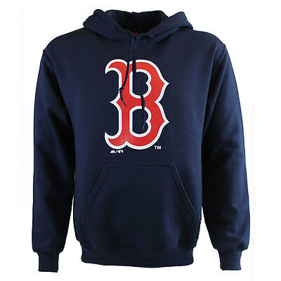 Boston Red Sox Majestic Athletic MLB Logo Hooded Fleece