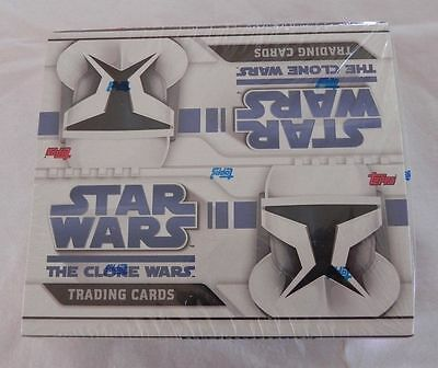 topps Stars Wars The Clone Wars Animated Movie Trading Card sealed  24 count box