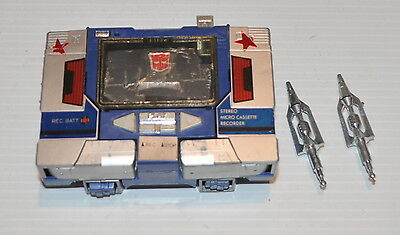 - SOUNDWAVE G1 Transformers w/ 2 Missiles 1980s Hasbro -