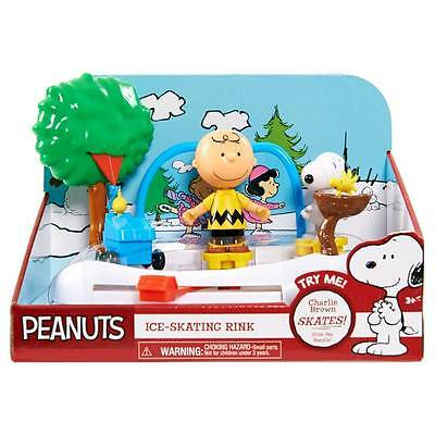 Peanuts Gang Ice Skating Rink Charlie Brown Snoopy Woodstock - skates & spins!