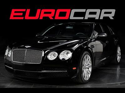 2014 Bentley Flying Spur  Bentley Flying Spur, BLACK PIANO WOOD, WHITE PIPING, IMMACULATE,