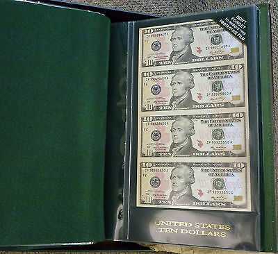 {BJSTAMPS}  $1 $2 $5 $10 Sheets UNCUT in Album w/box World Reserve Monetary Ex