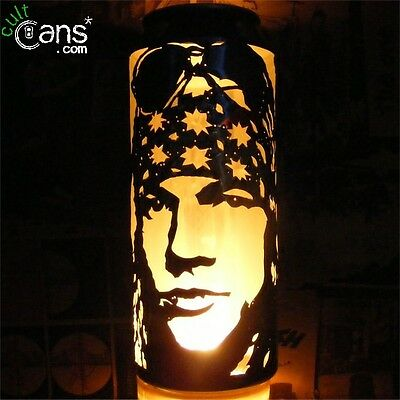 Axl Rose Beer Can Lantern! Guns N' Roses Pop Art Portrait Candle Lamp