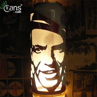 Frank Sinatra Beer Can Lantern! Rat Pack Pop Art Candle Lamp