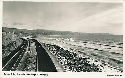 BARMOUTH BAY from the Footbridge, Llanaber Merionethshire Old RP Postcard