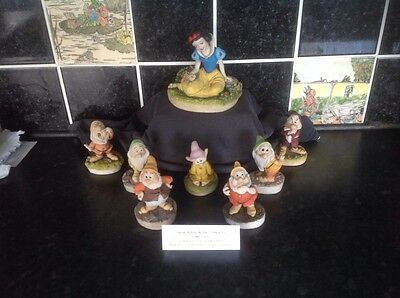 Arden Sculptures Disney Snow White & The 7 Dwarfs Complete Set