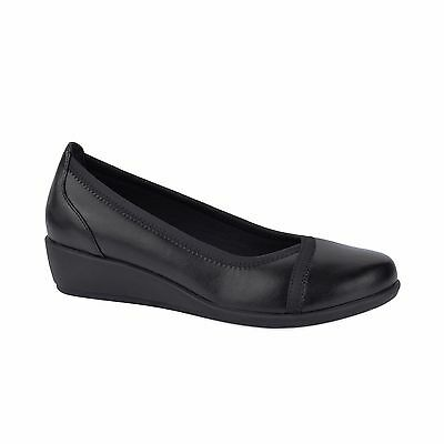 Ladies Shoes Grosby Mara Black Wedge Shoe Size 6-11 Work Casual New Wedges Comfy
