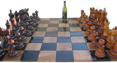 30cm (12 Inch) High Teak Chess Pieces (By Height of King)
